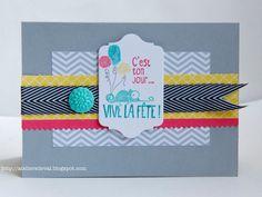 Les Ateliers de Val: Carte d'anniversaire Aurélie