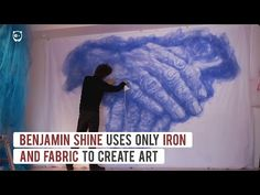 Видео: Парень использует ткань для тюлей и утюг для создания своих удивительных композиций. — Vinegret