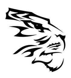 Tiger Tribal Head Tattoo 1 Men's T-Shirt - white. Back Tribal Tattoo Tribal Tattoos, Tribal Wolf Tattoo, Tribal Lion, Mens Lion Tattoo, Arte Tribal, Head Tattoos, Tiger Tattoo, Celtic Tattoos, Cat Tattoo