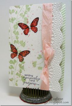 LeAnne's lovely card features Papaya Collage,  Gorgeous Grunge, & Petite Pairs.