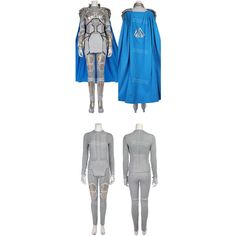 Valkyrie Grey soldier outfit costume from Thor Ragnarok ❤ liked on Polyvore featuring costumes, soldier halloween costume and soldier costume