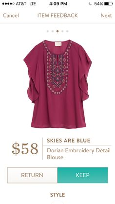 Skies Are Blue Dorian Embroidery Detail Blouse  https://astorybooklife.wordpress.com/2016/03/09/stitch-fix-review-5-and-a-bonus-march-2016/