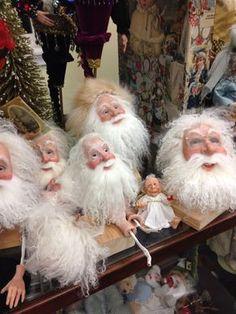 Heads for Santa art dolls Christmas Elf Doll, Father Christmas, Christmas Projects, Christmas Christmas, Xmas, Christmas Ornaments, Santa Head, Santa Face, Primitive Santa