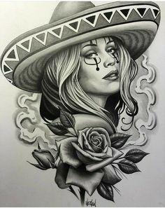 Lowrider Drawings, Lowrider Tattoo, Arte Lowrider, Chicano Drawings, Sexy Drawings, Chicano Tattoos Sleeve, Chicano Style Tattoo, Cholo Tattoo, Arte Cholo