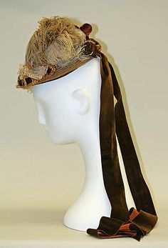 1879 ___ Hat by Mme. Lessing___ straw silk ___ American (NYC) ___ at The Metropolitan Museum of Art ___ photo 2