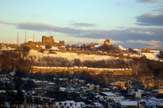 Dover Castle in Snow and Sun, Winter from the Western Heights, Kent, UK Dover Kent, Norman Castle, Dover Castle, Kent England, Travel Photos, Monument Valley, Paris Skyline, Tourism, Dolores Park