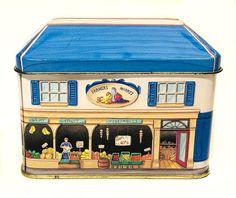 Vintage Building Tin Mercado de agricultores Tapa de techo | Etsy