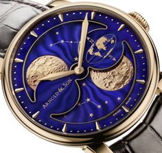 Pre-Baselworld 2016 - Arnold and Son HM Double Hemisphere Perpetual Moon (specs & price) - Monochrome Watches Pre-Baselworld 2016 - introducing the ultra-precise and luxurious Arnold & Son HM Double Hemisphere Perpetual Moon (specs & price) Amazing Watches, Cool Watches, Men's Watches, Wrist Watches, Moonphase Watch, Arnold Son, Monochrome Watches, Moon Watch, Watch Photo