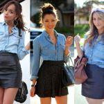 Camisa Jeans feminina com saia| www.crescieagora.com.br