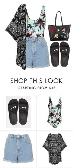 """""""Nike"""" by dontneedfashion ❤ liked on Polyvore featuring NIKE, Topshop and Karl Lagerfeld"""
