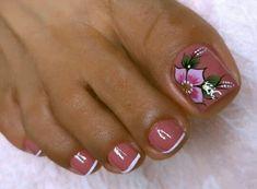 Cute Toe Nails, Cute Toes, Magic Nails, Pedicure Nail Art, Neutral Nails, Toe Nail Designs, Acrylic Nails, Make Up, Lily