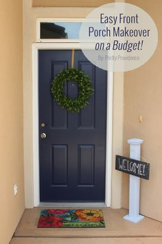 Easy front porch makeover on a budget! (Plus, were giving away two quarts of the best front door paint ever!)