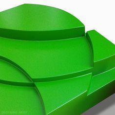 Delsy Rubio | Wind Blowing (detalle) | 20 x 20 x 8 cm | Acrílico/madera | 2015