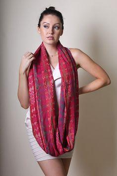 Anika Dali Women's Amelia Chevron Jacquard Infinity Circle Fashion Scarf. Trendy Fashion Scarves. Snood. Unique Gift Ideas. For Her. #ANIKADALI