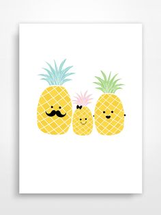 Affiche décorative * Ananas. Pineapple