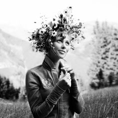 Flowers in her hair...