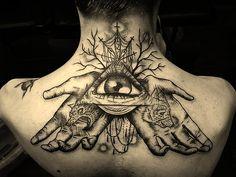 illuminati tattoo neck tattoo back tattoo Third Eye Tattoos, Back Tattoos, Great Tattoos, Body Art Tattoos, All Seeing Eye Tattoo, Thigh Tattoos, Amazing Tattoos, Girl Tattoos, Tatoos