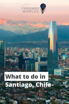 Santiago is the first stop for most people travelling to Chile. Before you explore the rest of country, here are some fun things to do in the capital. Find out where to get the best views in the… Cities In South America, Across The Border, Old Fort, Ancient Ruins, Beautiful Places In The World, Beach Holiday, Winter Landscape, Best Cities, Nice View
