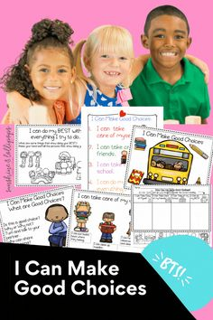Encouraging children to make good choices can be difficult at times, but this resource will make it easy for you to explain & easy for your students to discover & understand how to make good choices & what it means to make a good choice. There are many components & choices for you to use when presenting these lessons. It Great to use as you create or after you establish your classroom rules. Every rule you create with your students can fit into the general categories included in this… Classroom Rules, Special Education Classroom, Elementary School Counseling, Elementary Education, Autism Resources, School Resources, Building Classroom Community, Health And Physical Education, Social Studies Activities