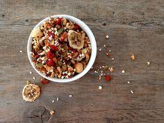 Super almond granola |Gurmee.net Wonderful Recipe, Granola, Acai Bowl, Almond, Breakfast, Recipes, Food, Acai Berry Bowl, Morning Coffee