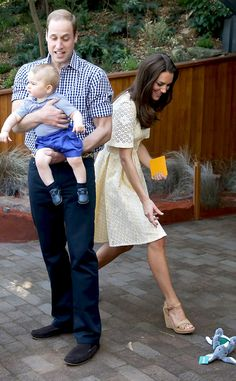 April 20, 2014 - Prince William, Kate Middleton, and Prince George at Sydney Zoo