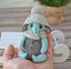 OOAK Friend teddy bear elephant Pich artist