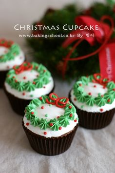 미리 크리스마스 컵케이크 - 베이킹스쿨(교훈:배워서남주자)