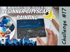 Painting a CITYSCAPE at night! 🌃 - Acrylic Painting Process | 2020 Art Challenge #17 - YouTube Painting Process, Art Challenge, Challenges, Night, Drawings, Youtube, Design, Sketches, Drawing