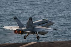 An F/A-18C Hornet launches from the flight deck from the aircraft carrier USS Carl Vinson as the ship conducts flight operations in the U.S. 5th Fleet area of operations supporting Operation Inherent Resolve, Dec. 22, 2014. The F/A-18C Hornet is assigned to Strike Fighter Squadron 94. hires_141222-N-TP834-080B.jpg (1800×1200)