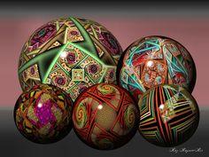 More Fractal Balls by RozrrFractal boll..#Sphere#Fractal#Orbball, sphere, bowl, globe, orb, glob, circle,