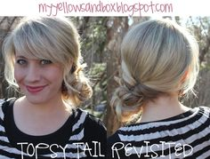 Topsy Tail Messy Bun.  My Yellow Sandbox- great hairstyle how-to's