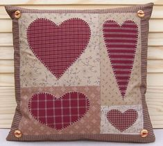 PATTERN - Prim Linz Country Hearts Cushion Pattern