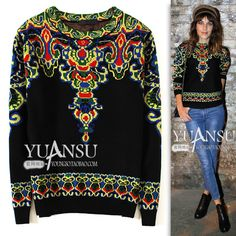 Find More Information about Yuansu Store new 2014 autumn&winter National fashion trend black O neck pullover women's long sleeve sweater thick sweater,High Quality sweater tunic,China sweater calculator Suppliers, Cheap sweater vest plus size from yuansu  on Aliexpress.com