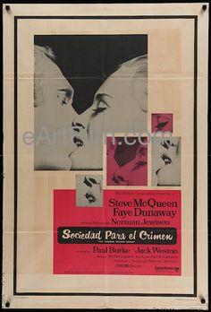 Thomas Crown Affair-Steve McQueen-Faye Dunaway-Argentina-1968-29x43