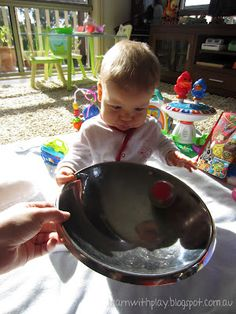 Super simple but fun activity for baby - Baby Play: Roly Bowl-y!