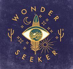 Wonder Seeker #graphicdesign #thirdeye #cactus #moon