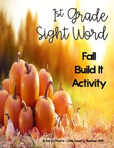 First grade sight word worksheets are great, but your students need a hands on way to practice their first grade sight words. This fall themed first grade sight word build it activity is just what they need. Your students will have a blast building and learning their sight words at the same time.