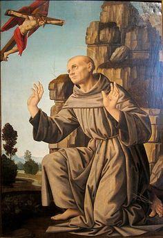 Lorenzo di Credi - San Francesco riceve le stimmate - Musèe du Palais Fesch di Ajaccio