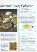 Franklin Ducks Of North America Decoys 1984 Ad Picture