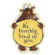 Gruffalo Party Thank You Cardswith envelopes includedcard size 6in x 4 inSold in packs of 10
