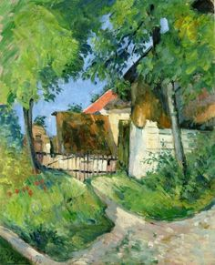 Entrance to the Farm, Rue Remy in Auvers-sur-Oise Paul Cézanne - 1873
