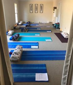 """""""The calm before the calm."""" 😊 The #meditation room yesterday before Manisha's sold out #Heart Opening #yoga workshop.❤️"""