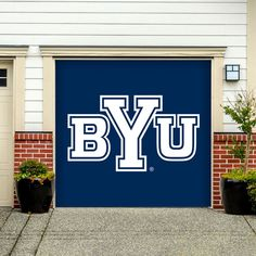 Victory Tailgate Brigham Young BYU Cougars Canvas Wall Art Vintage Flag Design