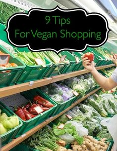The first time going to the grocery store to shop for vegan items might be a little confusing for some but once you know these tips you will be well on your way to bagging a great vegan meal.    Go With A List  Walking into any store without a list leaves you subject to impulse buys but by taking a little time in advance creating a list you are more likely to get the smart choices you really want, not what catches your eye…and may not be vegan. We are very tempted beings but when we are…