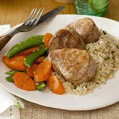 Five-Spice Pork with Gingered Vegetables #vegetables #protein #grains  #myplate