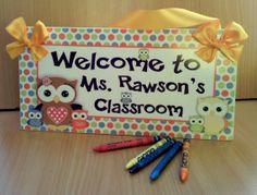 owls themed classroom decor teachers class wall door by kasefazem, $15.99