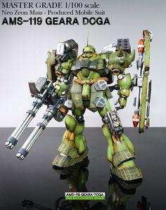 GUNDAM GUY: MG 1/100 AMS-119 Geara Doga - Customized Build