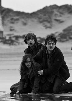 Harry, Hermione and Ron (Harry Potter & The Deathly Hallows: Pt. Saga Harry Potter, Harry Potter Love, Harry Potter World, Harry And Hermione, Hermione Granger, Hermoine And Ron, Draco Malfoy, Dr Who, Ron Weasly