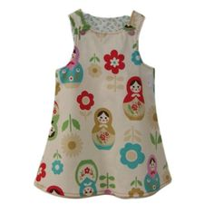 With Matryoshka / russian dolls everywhere you look this year, this is a must have for all Stylish Baby Girls. This is for a Beautiful handmade Ba . Stylish Baby Girls, Matryoshka Doll, Girl Closet, My Girl, Summer Dresses, Dolls, Granddaughters, How To Wear, Kid Stuff