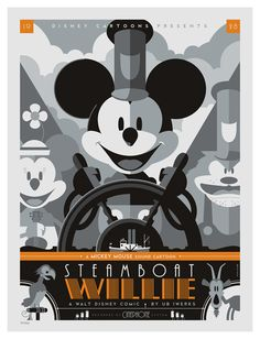 mondo: steamboat willie | by strongstuff @ DeviantART.com // #disney peg-leg pete; mickey and minnie mouse